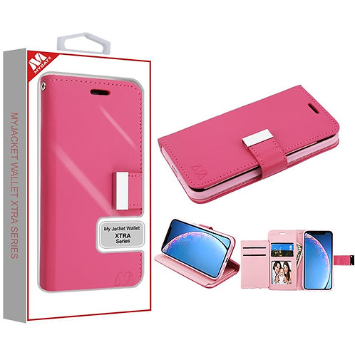 APPLE iPhone 11 - Mybat Hot Pink/Pink MyJacket Wallet Xtra Series (GE033) -WP