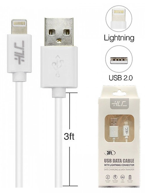 8 Pin USB Lightning Sync+charger Cable 3 feet for iPhone11-11 Pro-11 Pro Max-Xs