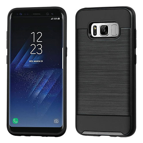 Samsung S8 Plus Black Brushed Hybrid Protector Cover