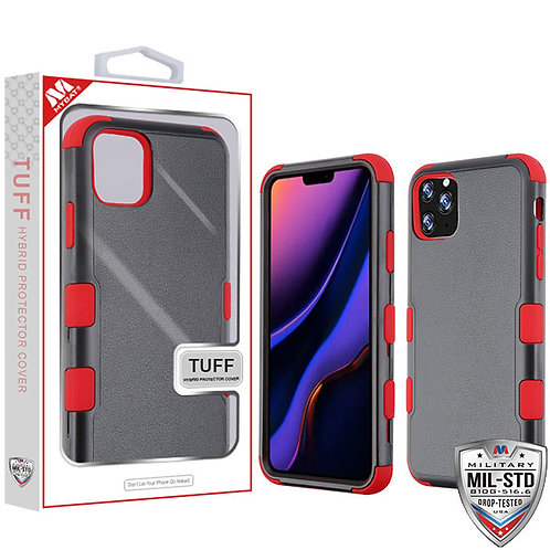 Iphone11 Pro Max_Natural Black_Red TUFF Hybrid Cover