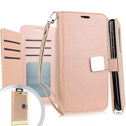 DW-IPXR-06iPhone XR 6.1 Deluxe Wallet w Blister Rose Gold