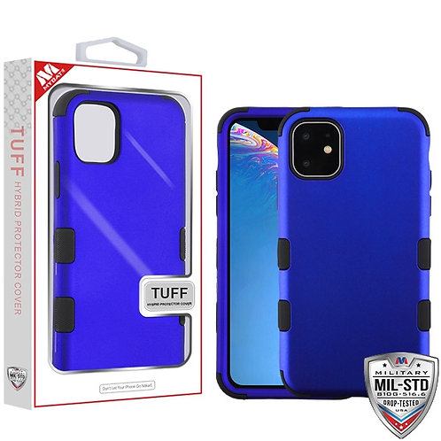 Iphone11_Rubberized Black_Black TUFF Hybrid Cover