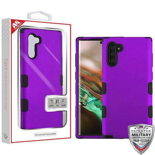 Samsung Note10 Rubberized Grape_Black TUFF Hybrid Protector Cover