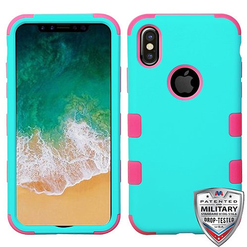 Iphone X/XS Teal Green/Pink (Tuff Hybrid)