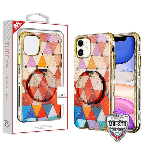 Triangle Squad_Electroplating Gold TUFF Kleer Hybrid Case with Mirror