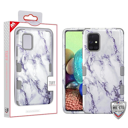 White Marbling/Iron Gray TUFF Hybrid Protector Cover [Military-Grade Certified]