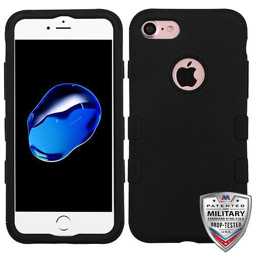 Iphone 7/8 Rubberized Black/Black TUFF Hybrid