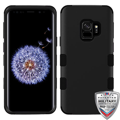 Samsung S9 Rubberized Black TUFF Hybrid Phone Protector Cover