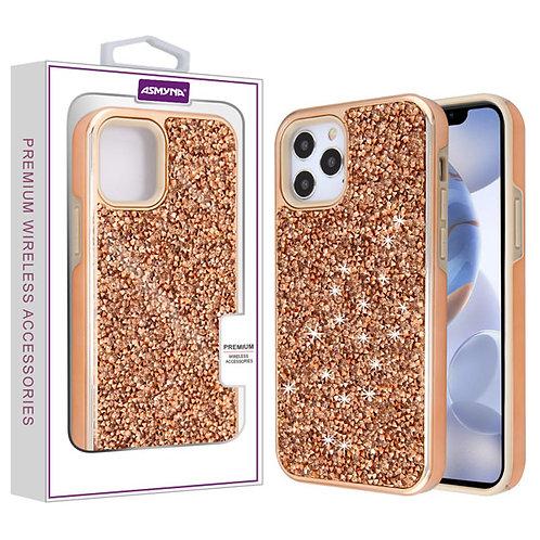 Asmyna Encrusted Rhinestones Hybrid Case for Apple iPhone 12 (6.1) iPhone 12 Pro