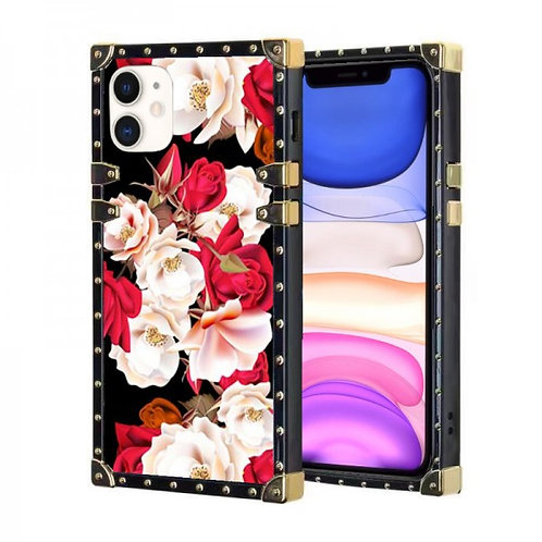 iphone 11-VINTAGE OPULENCE - RED & WHITE ROSE