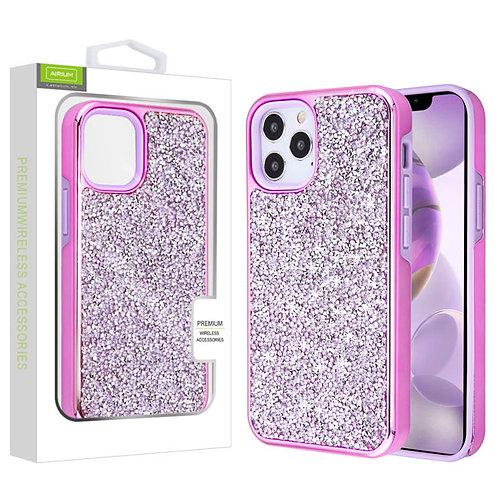 Airium Encrusted Rhinestones Hybrid Case for Apple iPhone 12 Pro Max (6.7) - Ele