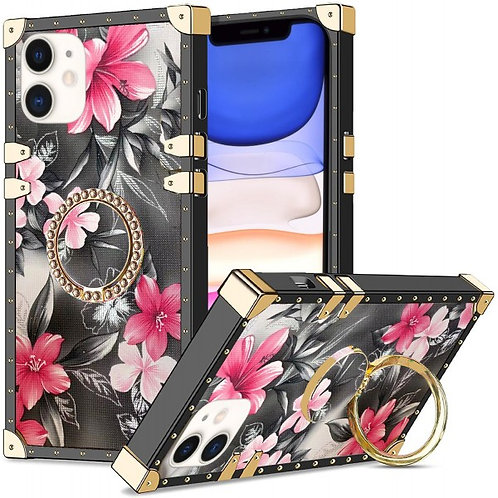 iphone 11-VINTAGE OPULENCE - PINK LILY GREY SKY