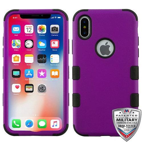 Iphone X/XS Rubberized Purple/Black (Tuff Hybrid)