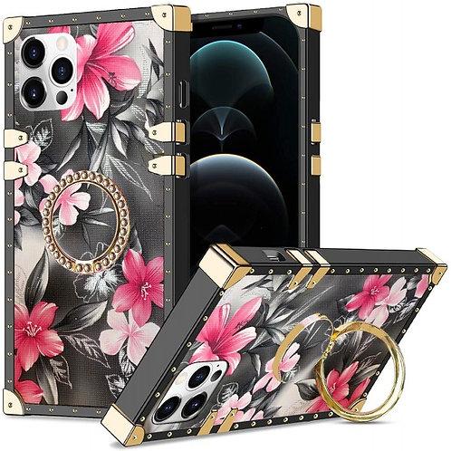 iphone 12-12pro-VINTAGE OPULENCE - PINK LILY GREY SKY