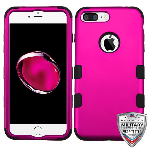 Iphone 7/8 Plus Titanium Solid Hot Pink/Black TUFF Hybrid