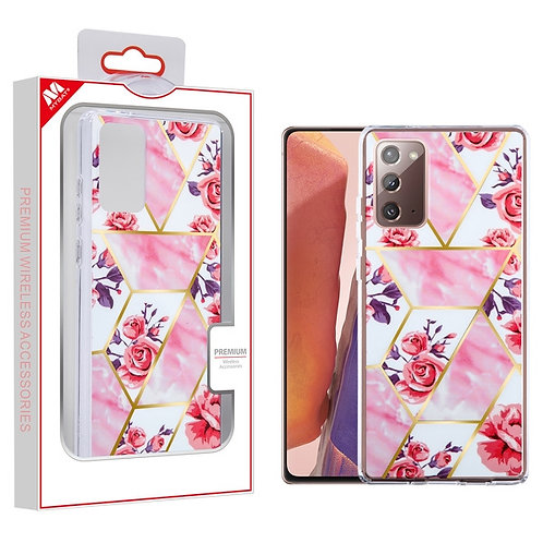 Electroplated Roses Marbling Fusion Protector Cover