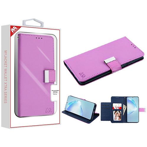 SAMSUNG Galaxy S20 PLUS (6.7) - Mybat Purple-Dark Blue MyJacket Wallet Xtra Seri