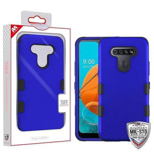 LG K51 - Mybat Titanium Dark Blue_Black TUFF Hybrid Phone Protector Cover [Milit