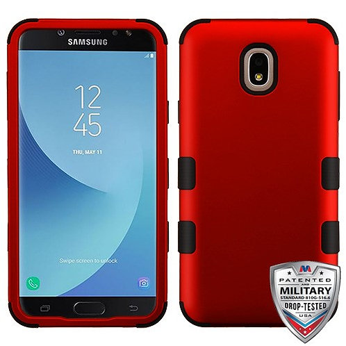 Samsung Galaxy J7(2018) Titanium Red_Black TUFF Hybrid Phone Protector Cover