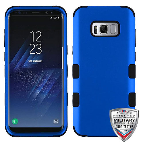 Samsung S8 Titanium Dark Blue_Black TUFF Hybrid Phone Protector Cover