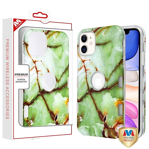 APPLE iPhone 11 - Mybat Onice Verde Persiano Marble_Transparent Clear TUFF Subs