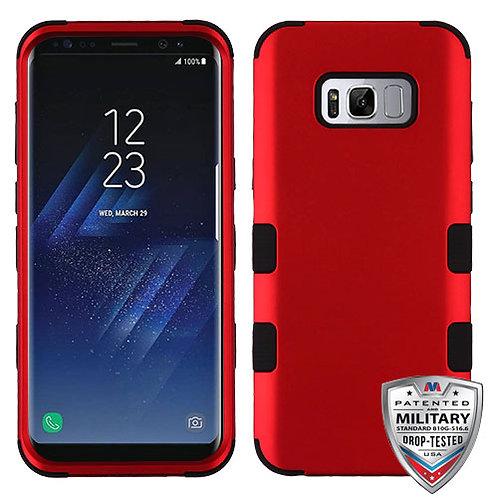 Samsung S8 Titanium Red_Black TUFF Hybrid Phone Protector Cover