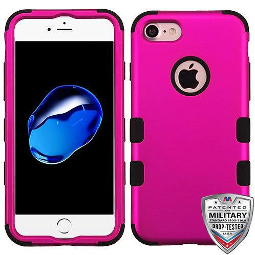 Iphone 7/8 Titanium Solid Hot Pink/Black TUFF Hybrid