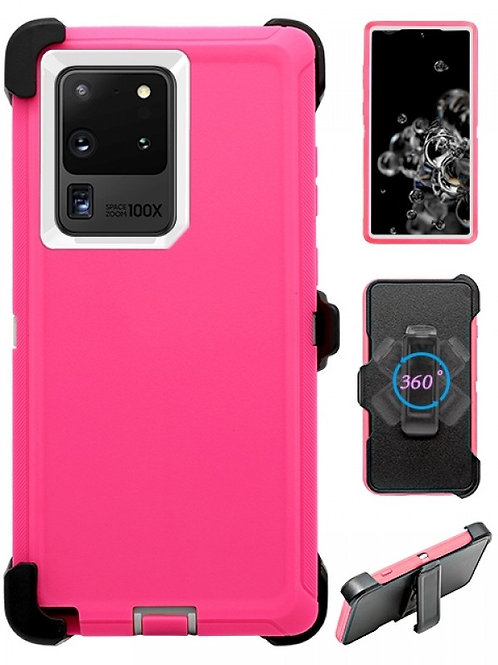 Full Protection Heavy Duty Shockproof Case for Galaxy S20 Ultra-Pink