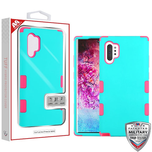 Samsung Note10 Plus Rubberized Teal Green_Electric Pink TUFF Hybrid Protector Co