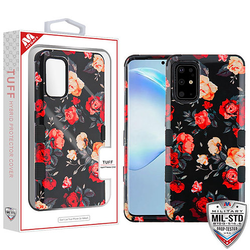 SAMSUNG Galaxy S20 PLUS (6.7) - Mybat Red and White Roses-Black TUFF Hybrid Phon
