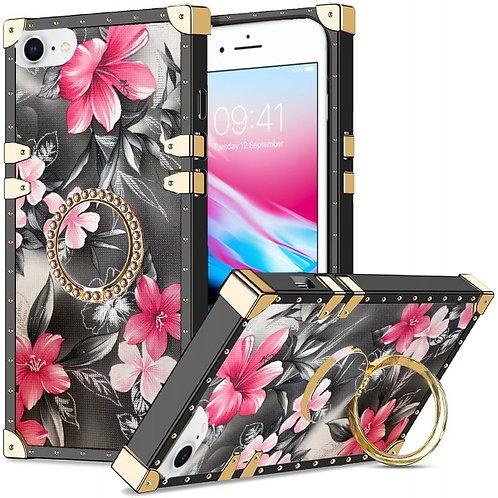 iphone 7-8-SE-VINTAGE OPULENCE - PINK LILY GREY SKY