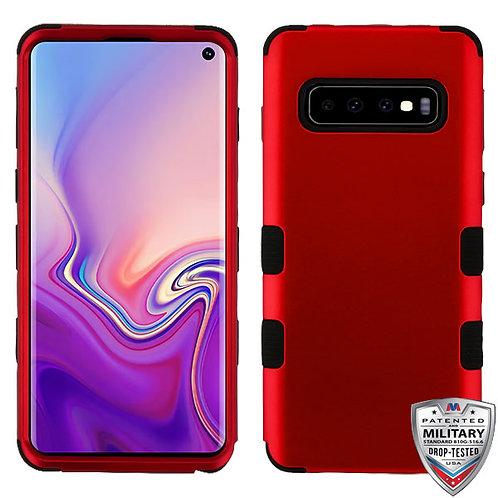 Samsung S10 Titanium Red_Black TUFF Hybrid Protector Cover