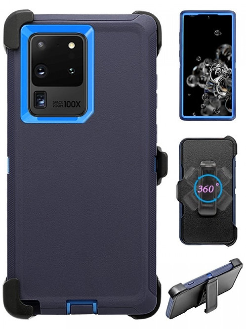 Full Protection Heavy Duty Shockproof Case for Galaxy S20 Ultra-Blue