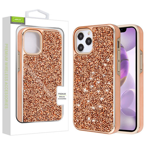 Airium Encrusted Rhinestones Hybrid Case for Apple iPhone 12 Pro Max (6.7) - Ele