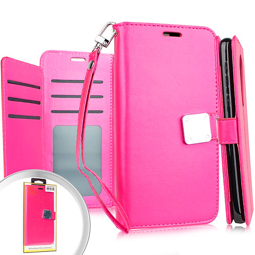 Samsung S20 ULTRA 6.9 Deluxe Wallet w/ Blister Hot Pink