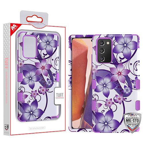 Purple Hibiscus Flower Romance/Electric Purple TUFF Hybrid Phone Protector Cover