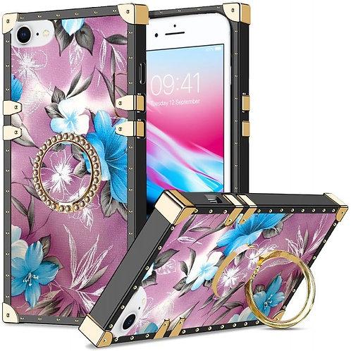 iphone 7-8-SE-VINTAGE OPULENCE - BLUE LILY PURPLE SKY