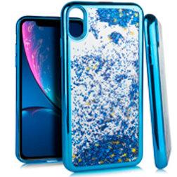 CGCM-IPXR-03iPhone XR 6.1 CHROME Glitter Motion Case Blue