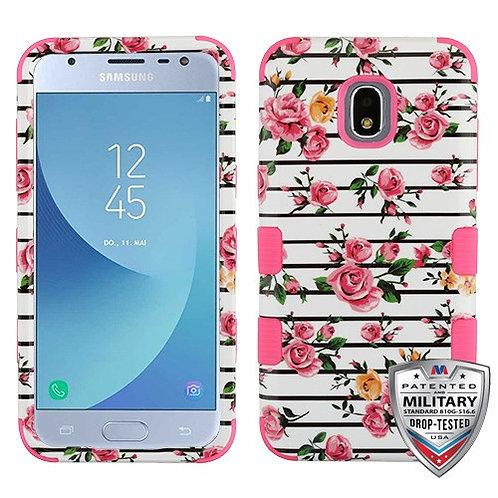 Samsung Galaxy J3(2018) Pink Fresh Roses_Pink TUFF Hybrid Phone Protector