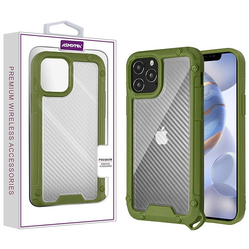 Asmyna Hybrid Case for Apple iPhone 12 (6.1) iPhone 12 Pro (6.1) - Transparent C