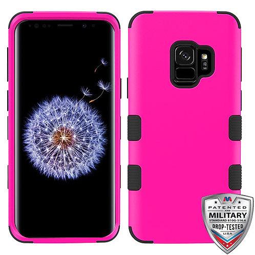 Samsung S9 Titanium Solid Hot Pink_Black TUFF Hybrid Phone Protector Cover