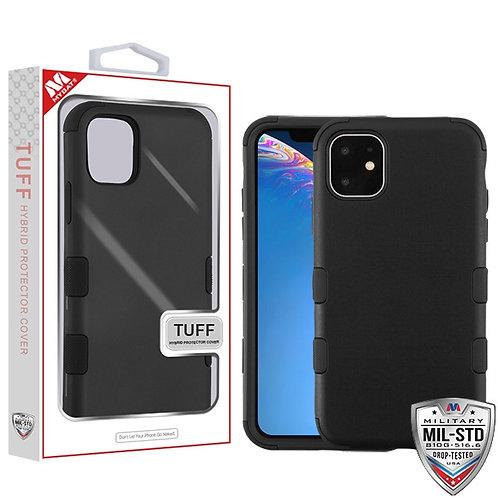 Iphone11-Rubberized Black_Black TUFF Hybrid Cover
