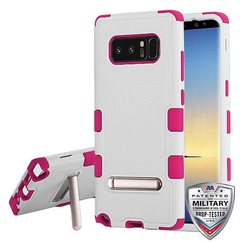 Samsung Galaxy Note8 Natural Cream White_Hot Pink TUFF Hybrid Protector Cover
