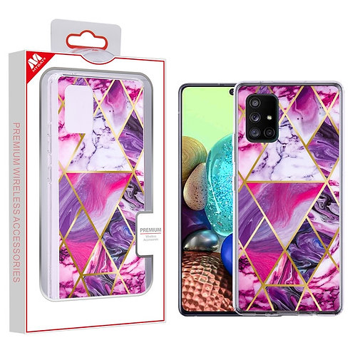 Electroplated Purple Marbling Fusion Protector Cover