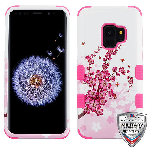 Samsung S9 Spring Flowers_Electric Pink TUFF Hybrid Phone Protector Cover