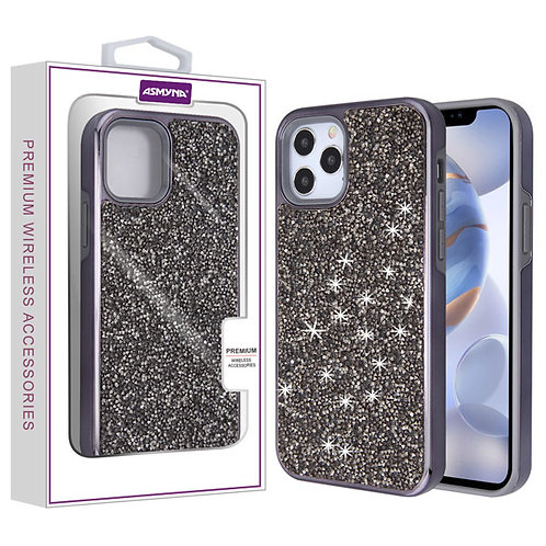 Asmyna Encrusted Rhinestones Hybrid Case for Apple iPhone 12 (6.1) iPhone 12 Pro
