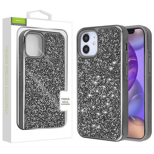 Airium Encrusted Rhinestones Hybrid Case for Apple iPhone 12 mini (5.4) - Electr