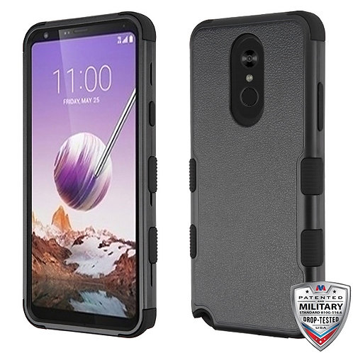 Natural Black_Black TUFF Hybrid Phone Protector Cover [Military-Grade Certified]