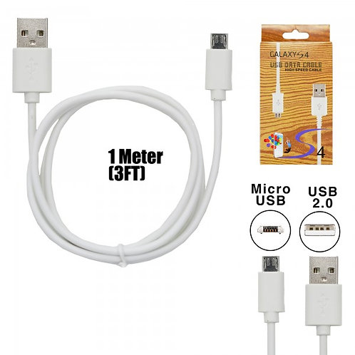 Cable Compatible with Samsung & Android System (3FT) - WhiteCompatible wit