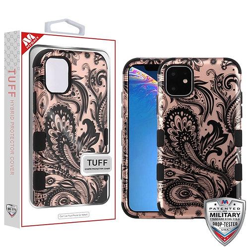 APPLE iPhone 11 - Mybat Electroplated Black-Black Mini Crystals TUFF Kleer Hybri